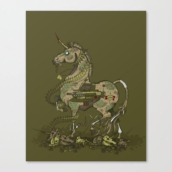 Unicorn of War Canvas Print