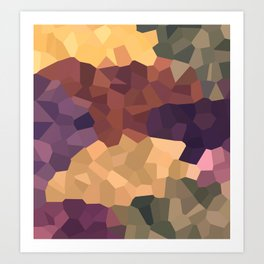 Camouflage crystal Art Print