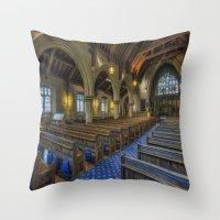 christ Throw Pillows featuring Christ Church by Ian Mitchell