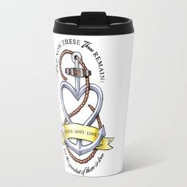 Faith Hope Love - Anchor Heart Travel Mug