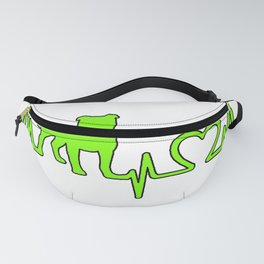 electrocardiogram pit bull Fanny Pack