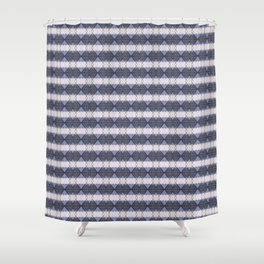 Diamond Blue Shower Curtain