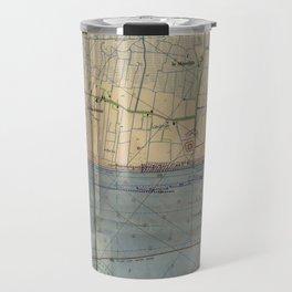 Vintage Utah Beach D-Day Invasion Map (1944) Travel Mug