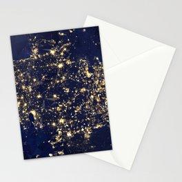 Gold map Stationery Cards