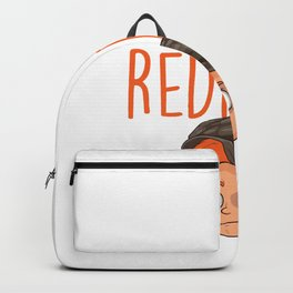 Redhead Rocks Redheads Red Hair Freckles Ginger Gift Backpack