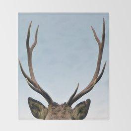 Stag antlers Throw Blanket