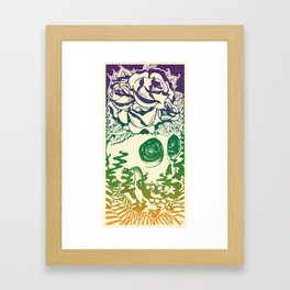 Bad Acid Technicolor Framed Art Print