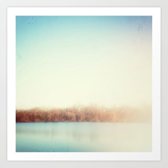 the edge of winter Art Print