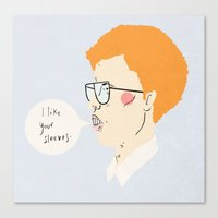 napoleon dynamite Canvas Prints featuring napoleon dynamite by Samantha Kofler