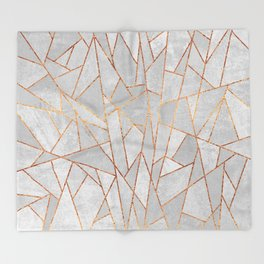 Shattered Concrete Throw Blanket