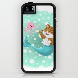 Bubbly Purrmaid iPhone Case