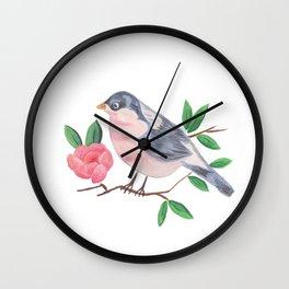 Bird Flora Wall Clock
