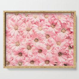 Lovely Pink Daisies Serving Tray
