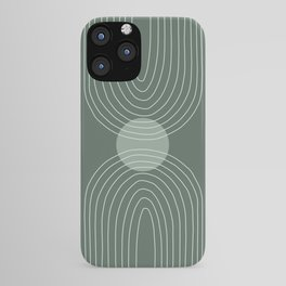 Handdrawn Geometric Lines in Forest Green 2 iPhone Case