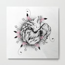 Little Fox Pink Version Metal Print