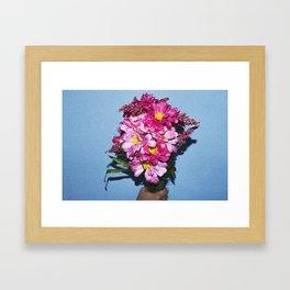 Hand Holding Flowers Framed Art Print