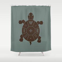 Lo Shu Turtle Shower Curtain