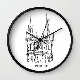 """ Travel Collection "" - Prague Print Wall Clock"