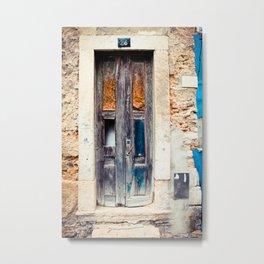 Door number 25, Lisbon, Portugal Fine Art photography Metal Print