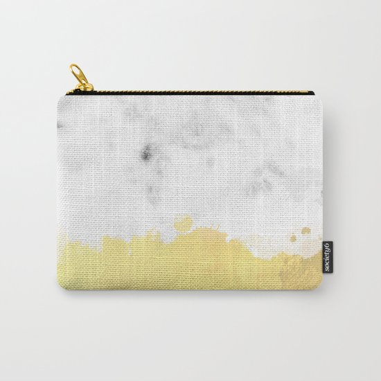Gold spill on marble Carry-All Pouch