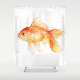 Goldfish Watercolor Fish Shower Curtain