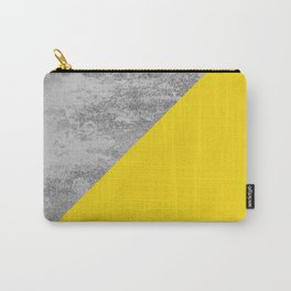 Simply Concrete Mod Yellow Carry-All Pouch