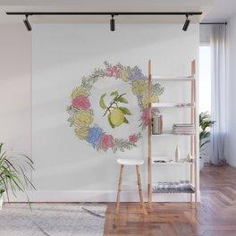 Original Lemon Watercolor Painting, Fruit watercolor;  vita Wall Mural