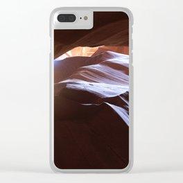 Sun Overhead in Lower Antelope Canyon, Arizona Clear iPhone Case