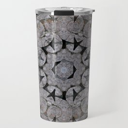 Gothic Romanesque Stone Architecture Mandala Pattern Travel Mug