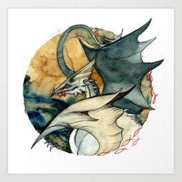 Seagull Dragon Art Print