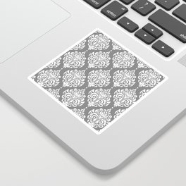 Grey Damask Sticker
