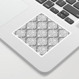 Grey Damask Sticker