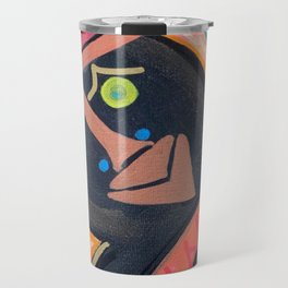 African Spider Mask Painting Travel Mug