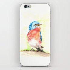 Tiny Blue Bird iPhone & iPod Skin