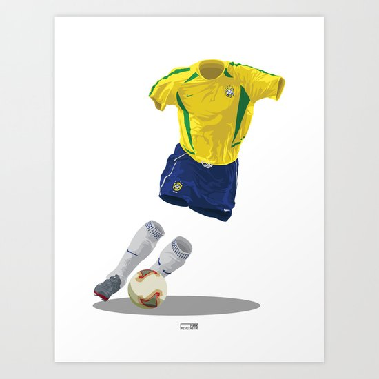 Brazil 2002 - World Cup Winners Art Print