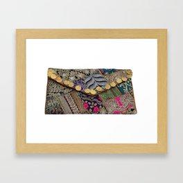 Traditional Antique Vintage Clutch Bag Framed Art Print