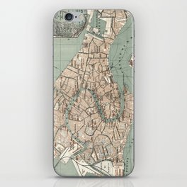 Map of Venice - 1886 iPhone Skin