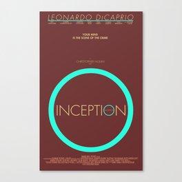Inception - Minimalist Poster Canvas Print