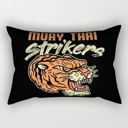 Muay Thai Strikers Tiger Kickboxing MMA Material Arts Judo Karate Gift Rectangular Pillow