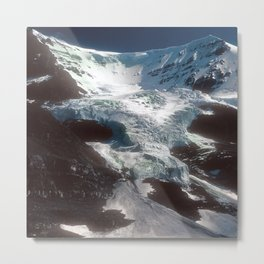 Jaw-dropping Canadian Glacier Cascading Down Mountainside Metal Print