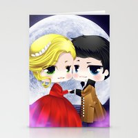 ouat Stationery Cards featuring OUAT - Chibi Captain Swan Dance by Yorlenisama