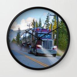 Trans Canada Trucker Wall Clock