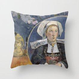 La Belle Angele by Paul Gauguin Throw Pillow