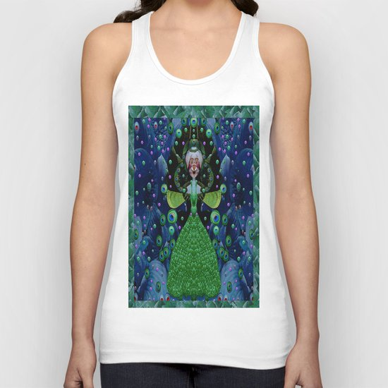 Lady Rabbit  Fantasy happy for her new dress Unisex Tank Top