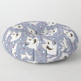 Origami Crane Metamorphosis (Blue) Floor Pillow