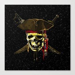 The Dark Eyes Of Pirates Canvas Print