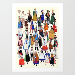 European Costumes Art Print