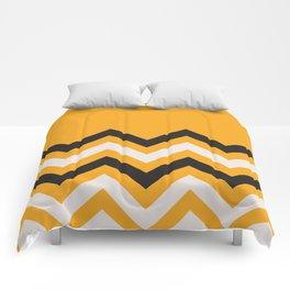 Orange Zigzag Comforters