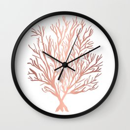 Rose Gold Seaweed Wall Clock