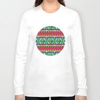 aztec Long Sleeve T-shirts featuring Aztec by Shelly Bremmer